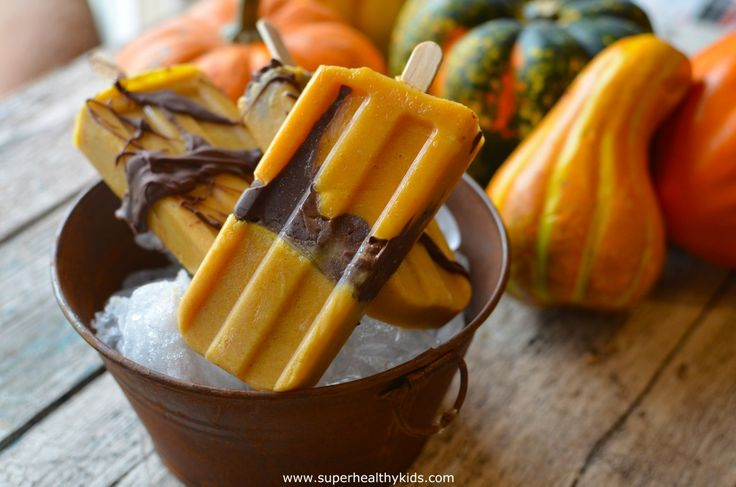 Pumpkin Chocolate Popsicles | Healthy Ideas for Kids