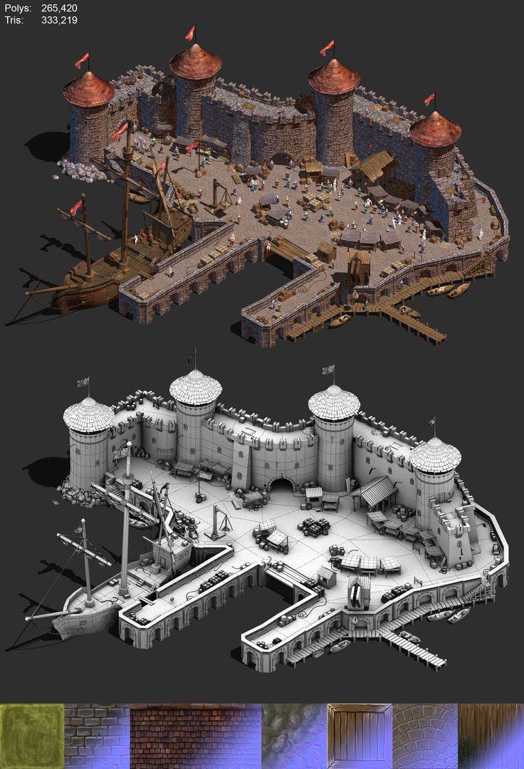 Medieval Docklands by BoChicoine.deviantart.com on @DeviantArt