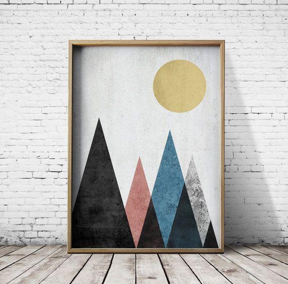 Printable Poster Digital Print Geometric Art by CosmicPrint
