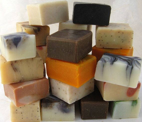 Organic Soap Sampler Set 9 Half Bars by SweetSallysSoaps on Etsy, $26.00