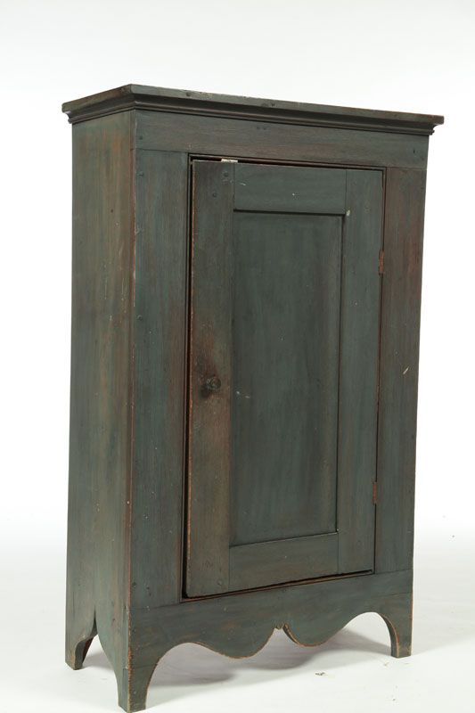 Carl Mueller, Tallmadge, Ohio, 2nd half-20th century, walnut and poplar. Made from an old door and old wood