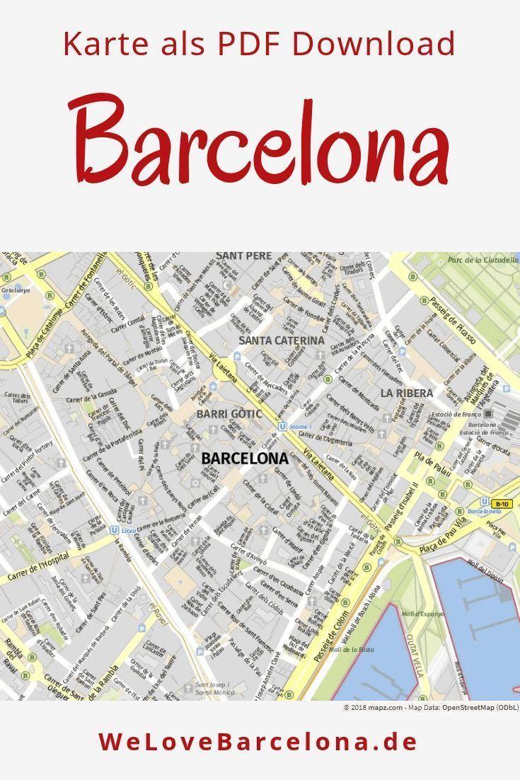 Stadtplan Fur Barcelona Ausdrucken Speichern Als Pdf