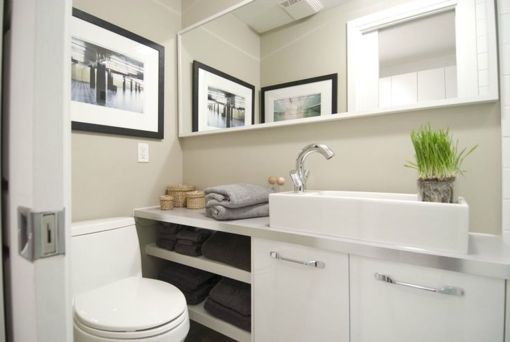 54 best bathroom hacks images on pinterest - Small bathroom space pict ...