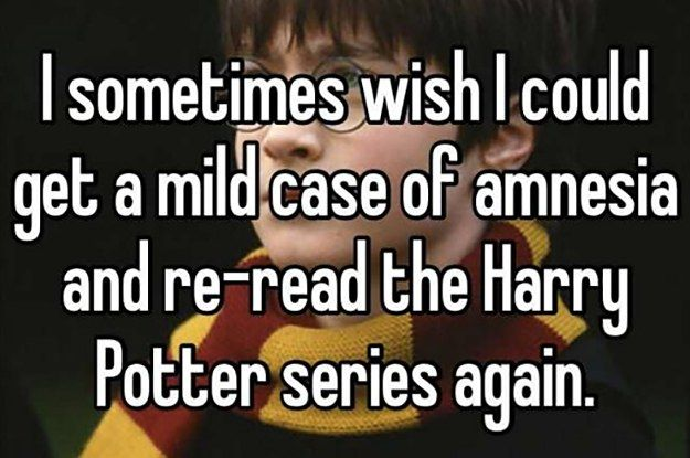 "16 Confessions Only ""Harry Potter"" Fans Will Understand"