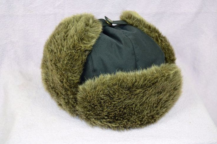 2011 Eddie Bauer Goose Down Feather Faux Fur Trim Winter Trapper Hat Size L / XL #EddieBauer #TrapperHat