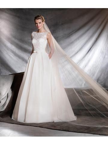robe de mariage taffeta evasee moderne