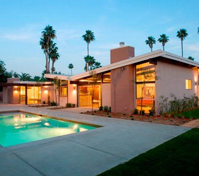 Mid-Century Modern Home with Butterfly Roof (Palm Springs) by William Krisel.