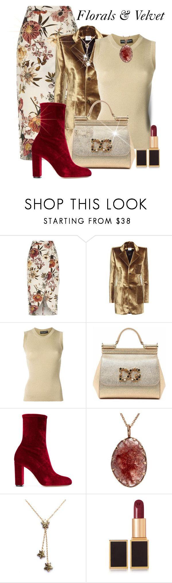 """Fall Trends"" by shamrockclover ❤ liked on Polyvore featuring River Island, Vetements, Dolce&Gabbana, Oscar Tiye, Rosita Bonita and Tom Ford"