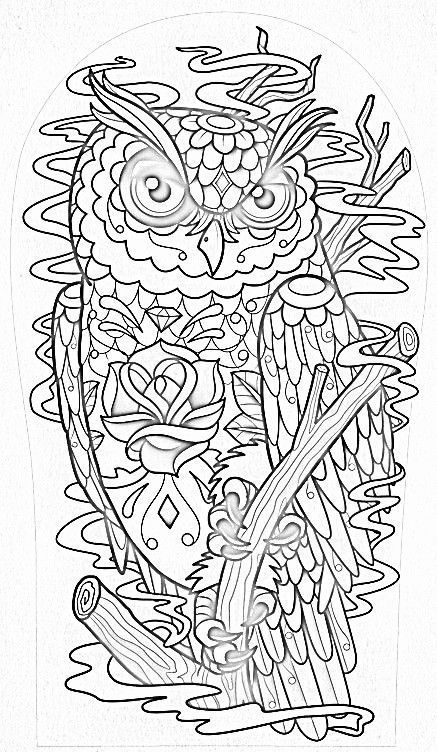 American Hippie Art Adult Coloring Page