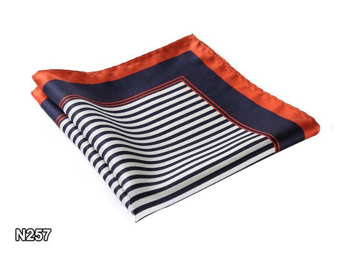 Handkerchief 100% Natural Silk Satin Mens Hanky Fashion Classic Wedding Party Pocket Square #N25