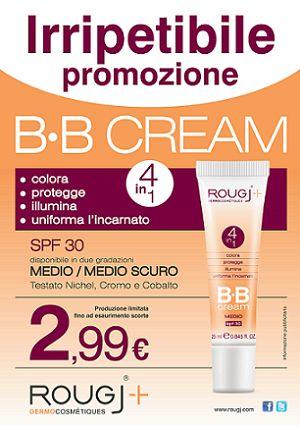 Promozione fino ad esaurimento scorte  BB CREAM in due colorazioni: MEDIO e MEDIO SCURO a €2,99.   Colora - Protegge - Illumina - Uniforma l'incarnato #bbcream #crema #cream #trucco #rougj #cosmesi #farmacia #bellezza #cosmesi #promozione