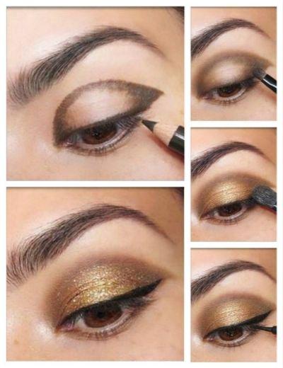 Gold Smokey Eye Makeup Tutorial By Miageek
