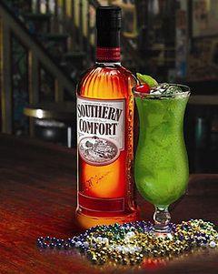 Ohhh heck yeahhhh...brrrring on Marrrrdi Gras babyyyy! SoCo Lime Hurricane
