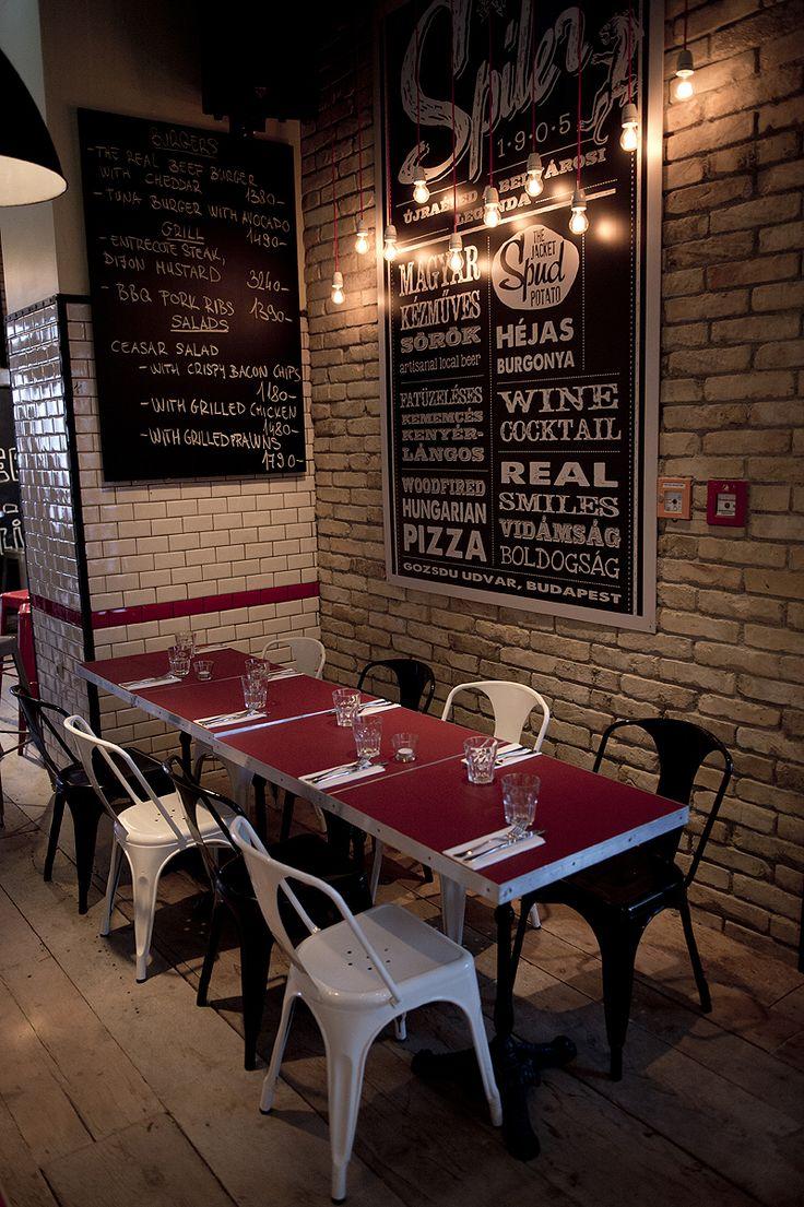 Spíler http://spilerbp.hu/index_hu_or.php | Terasz #budapest #design #bar #spíler #restaurantdesign #IndoorFurniture #RestaurantFurniture #bistro #pub