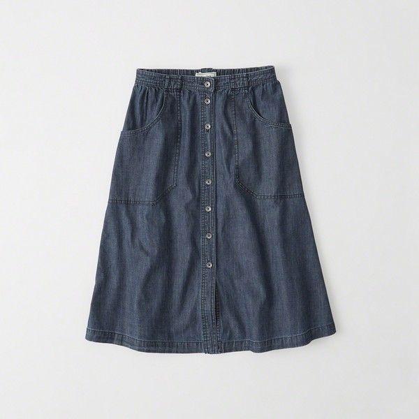 17 migliori idee su Knee Length Denim Skirt su Pinterest | Moda ...
