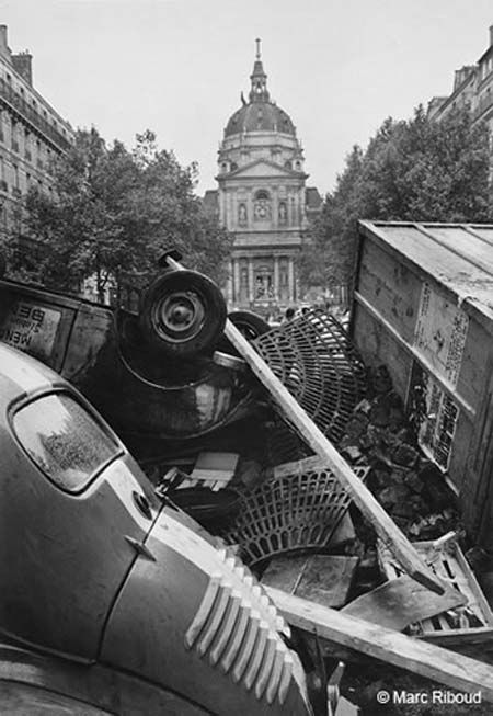 Mai 68 riots, Paris. Marc Riboud