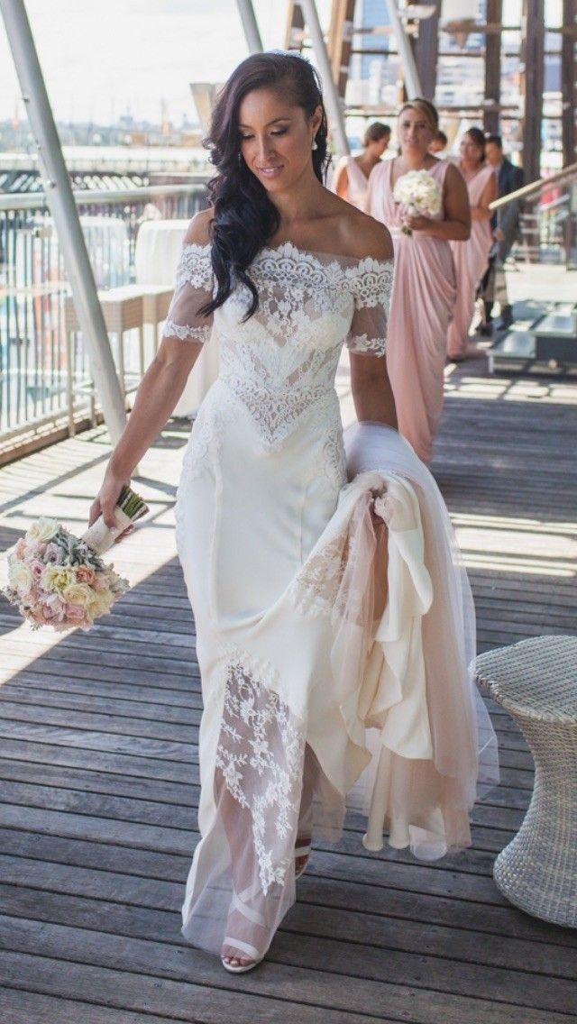 Pallas Couture Amarante Size 6 Second Hand Wedding Dress   Still White Australia