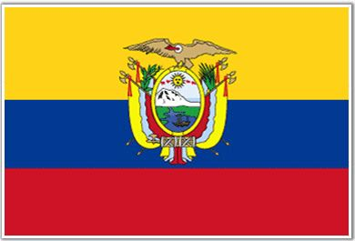 The Flag.      The yellow stripe represents the bright sunshine and the fertility of the land and the amount of gold ore found in Ecuador. The blue stripe represents the clear blue skies over Ecuador and its vast coastal regions. The red stripe represents the patriotic spirit of the countrymen and the lives lost in Ecuador's fight for freedom. The condor represents shelter and protection and defense against foreign attacks. The coat of arms represents the dignity and pride of Ecuador.
