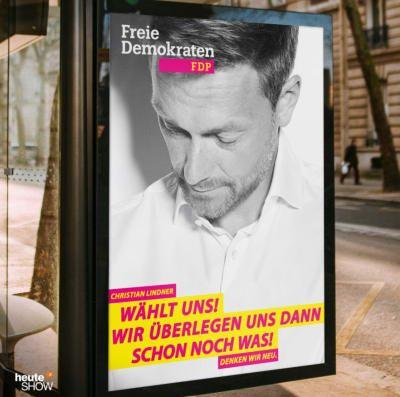 Die heute Show hat sich neue Wahlplakate ausgedacht und wow, sie sind herrlich ehrlich