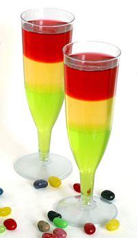 Cómo hacer gelatinas con capas de colores, en www.fiestafacil.com / How to make jellies with coloured layers, from www.fiestafacil.com