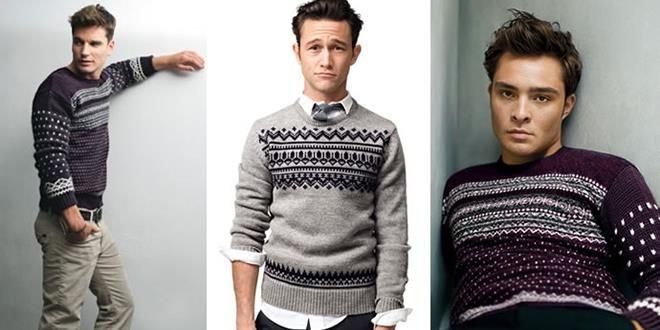 Шотландские мужские зимние свитера
