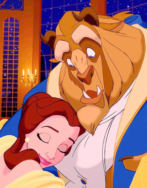You know what I love about this? Look at the beasts face. He's just completely shocked that she would touch him.. Hug him.. Trust him.. Not run.. Then you look at belles face and you can see her happiness and contentness and trust and love. All in a simple cartoon picture