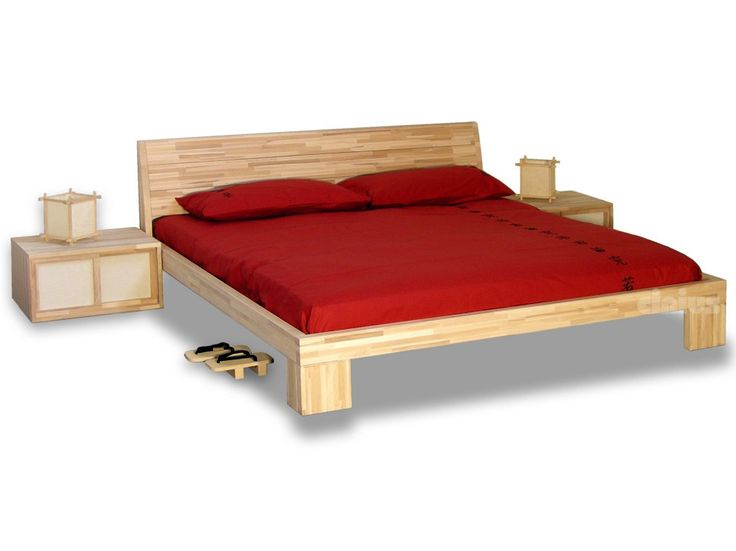 Tatami wooden double bed AURORA by Cinius