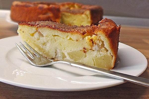 Apfelkuchen Ohne Boden Mit Quark Vanillepudding Rezept Apfel Quark Kuchen Quarkkuchen Ohne Boden Kuchen Und Torten