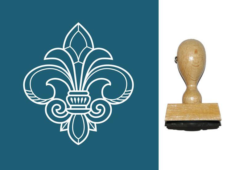 Vintage Stempel - Stempel Französische Lilie, Fleur de Lis (990500) - ein Designerstück von designs-for-you bei DaWanda