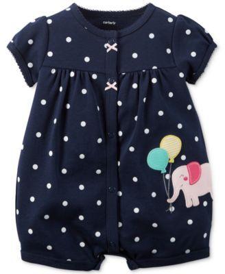 Carter's Baby Girls' Elephant Romper