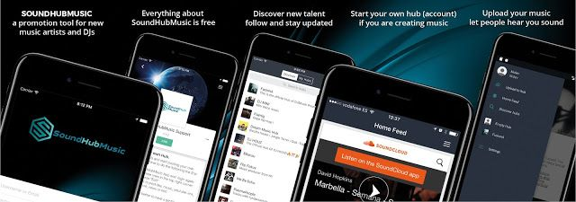 Mobile web & APP development Marbella: SoundHubMusic New website launched from Disenoidea...