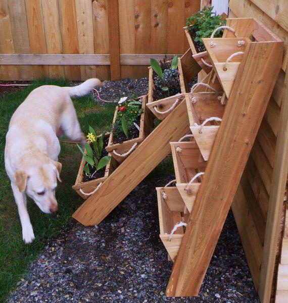 "2, 3, or 4 24"" large planters gardening system, large planters for raised gardening kit, patio, condo, ergo, cedar, small space, organizer"