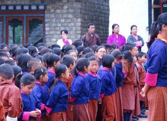 THE DRUKGYEL SCHOOL - PARO, Bhutan is an institution for the hearing-impaired focused on teaching Bhutanese sign-language, providing vocational programmes, and meeting the social and psychological needs of deaf children.