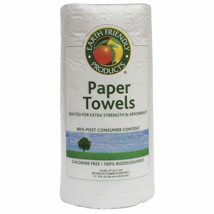 Toallas de papel multiuso Earth Friendly. Route2Green.