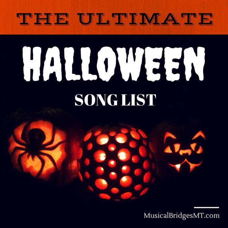 HalloweenSongList More than monster mash