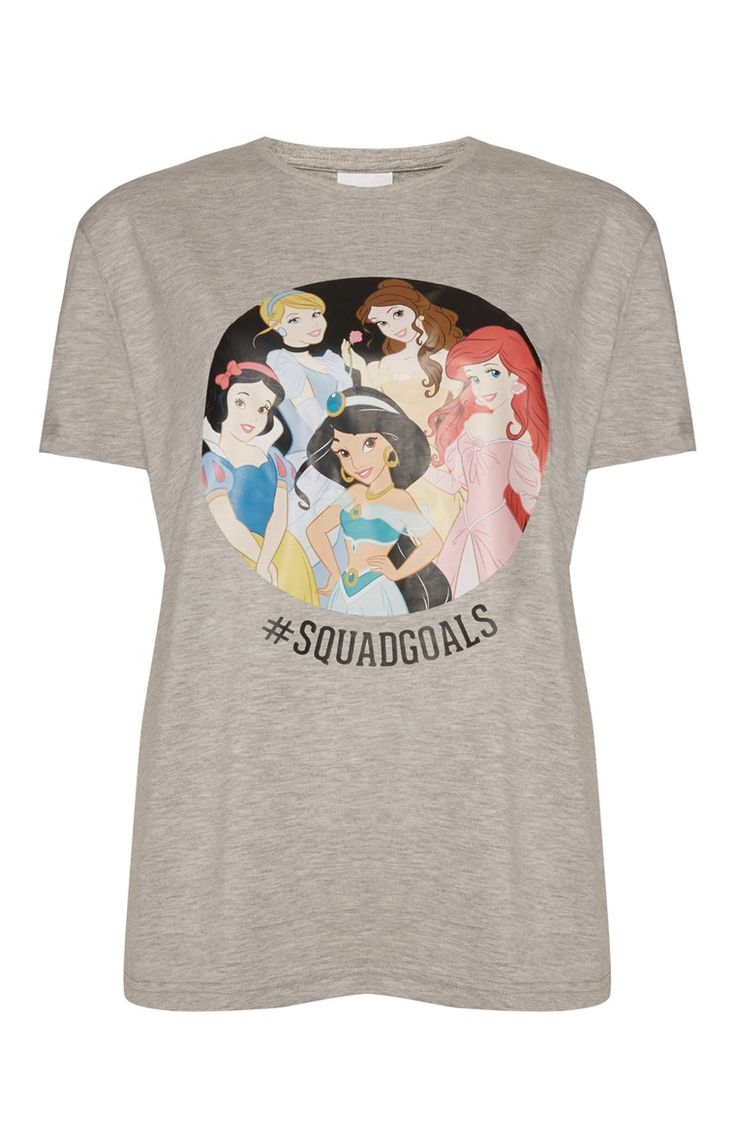 Primark - Grey Disney Princess Squad T-Shirt