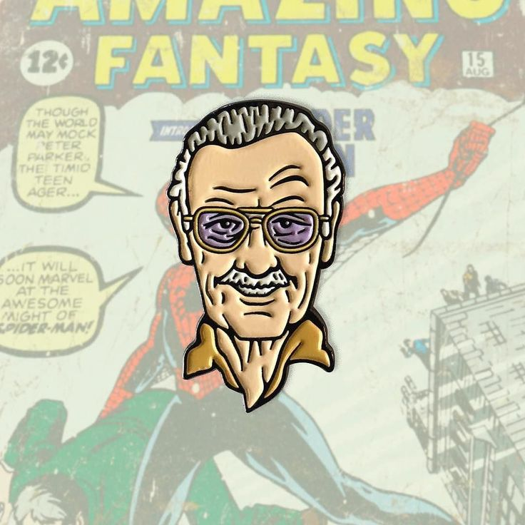 """#Repost @highfivepins """"Stan Lee"""" soft enamel pins available only at www.highfivepins.com When writer Stan Lee joined forces with artists Jack Kirby and Steve Ditko they created tales to astonish. The founding fathers of Marvel Comics. Their combined efforts gave life to the world's most popular superheroes and teams like Spider-Man Doctor Strange Fantastic Four and The Avengers. Stan Lee now makes small cameos in all Marvel Studio productions of TV shows and movies which fans of all ranges…"""