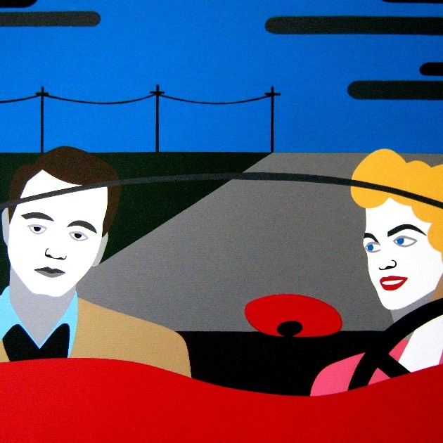 Get The Keys And Go. Cover Artist: ESTER GROSSI, Detail from Written on the Hays, Universal International Pictures presents (acrylic on canvas, triptych, 150X60, 2011)