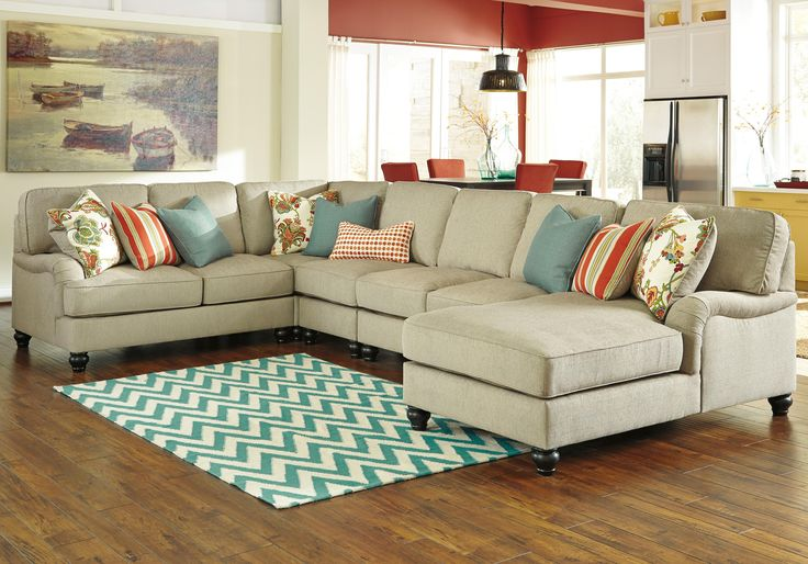 Kerridon 5-Piece Sectional with Right Chaise by Benchcraft