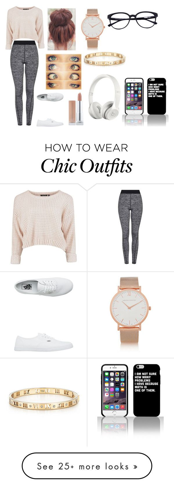 """""""Wow I can't believe the look went good with the vans"""" by ashley22315 on Polyvore featuring Topshop, Vans, Larsson & Jennings, Tiffany & Co. and Beats by Dr. Dre"""