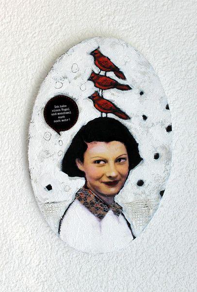 Collagen - Mixed Media Collage auf Leinwand - ein Designerstück von mARTinahaussmann bei DaWanda
