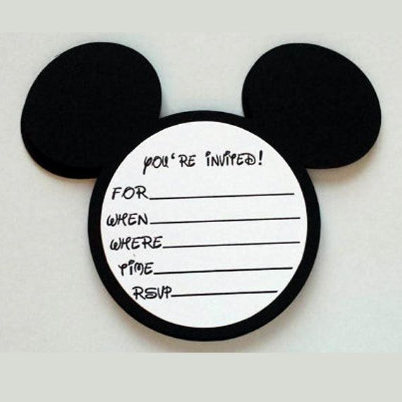 Best 25 Mickey mouse invitation ideas – Handmade Mickey Mouse Birthday Invitations