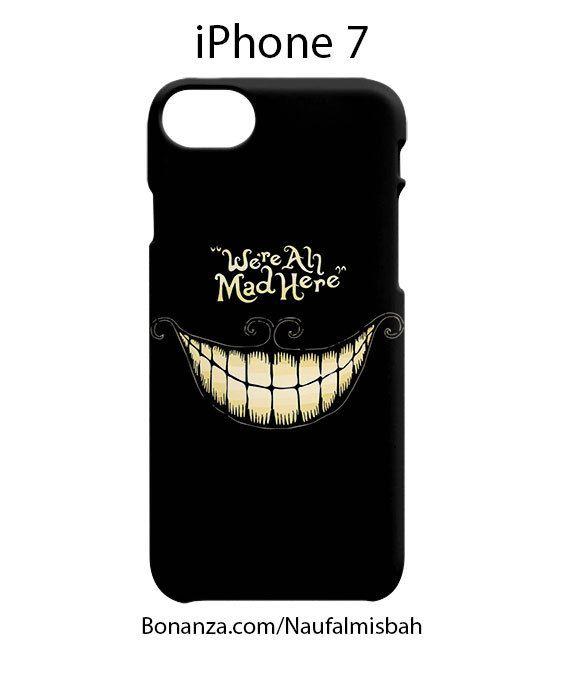 Quotes Chesire Cat Alice in Wonderland iPhone 7 Case Cover Wrap Around