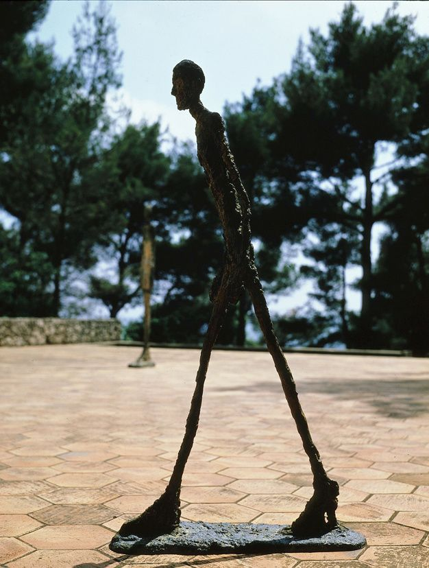 Alberto Giacometti - Walking man.  Fondation Maeght - France
