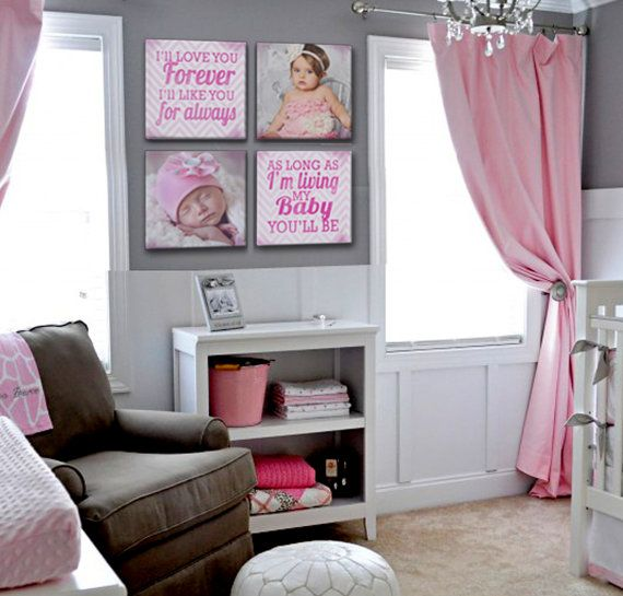 Baby Nursery Photo Canvases with Quote by DesignerCanvases on Etsy, $199.00 love the colors!! Love the walls