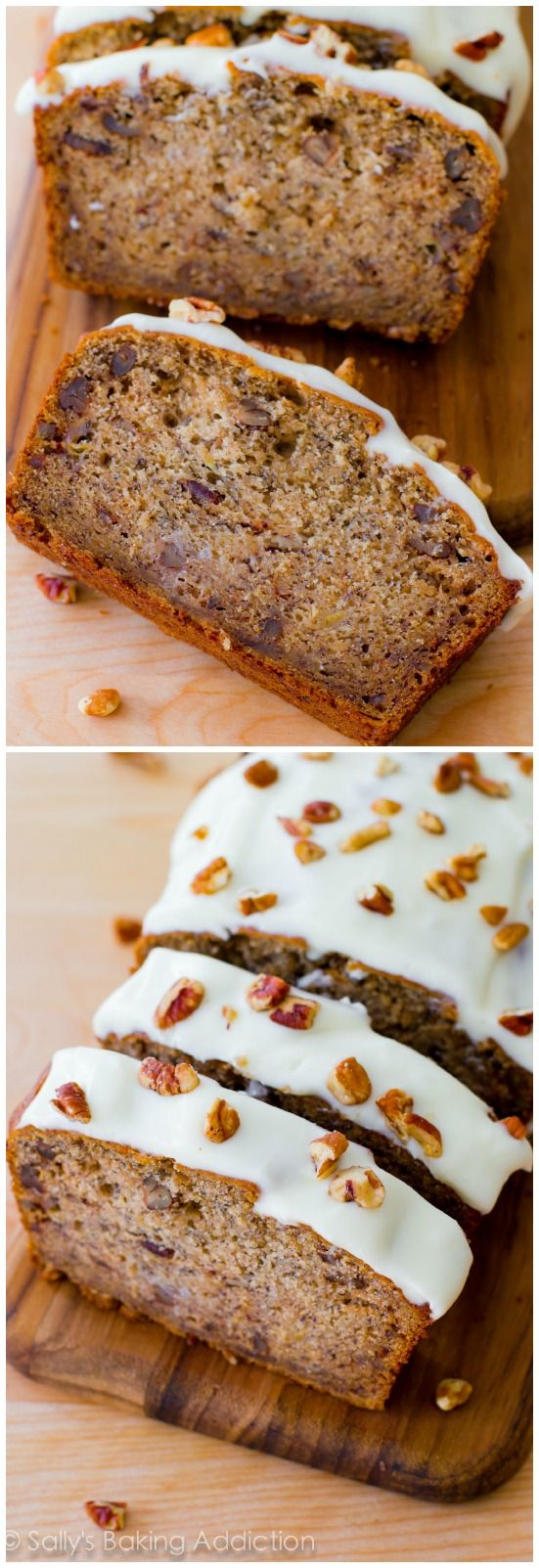 Best-Ever Banana Bread - 4 bananas and brown sugar make it extra moist and flavorful!