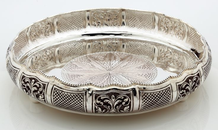 An artistic silver tray...