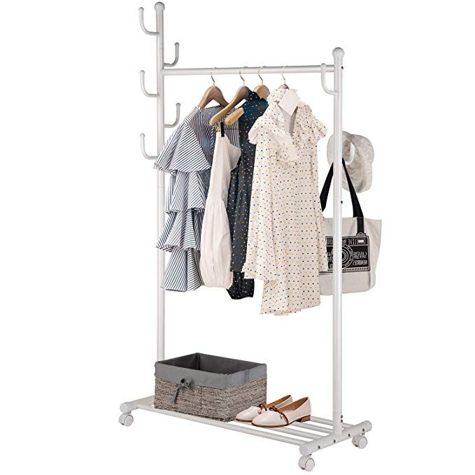 Singaye Clothes Rack 2 In 1 Multifunctional Design With 7 Side