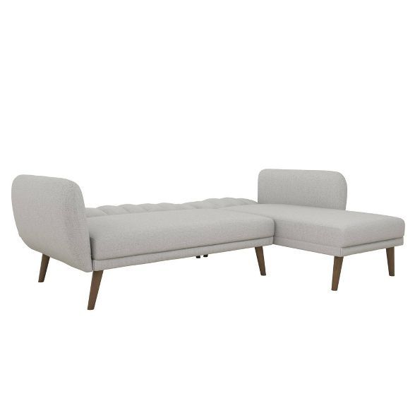 Brittany Sectional Futon Sofa Light Gray Novogratz In 2020 Futon Sofa Mattress Furniture Futon