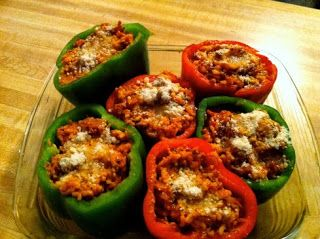 The Paleo Diet Recipes: Beef Bolognese Stuffed Bell Peppers